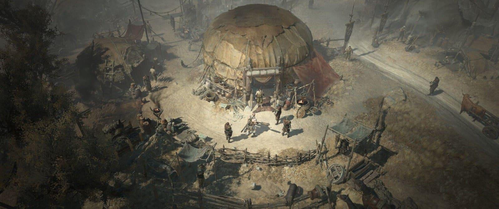 Diablo 4: Barbaro nell'accampamento delle Steppe Aride