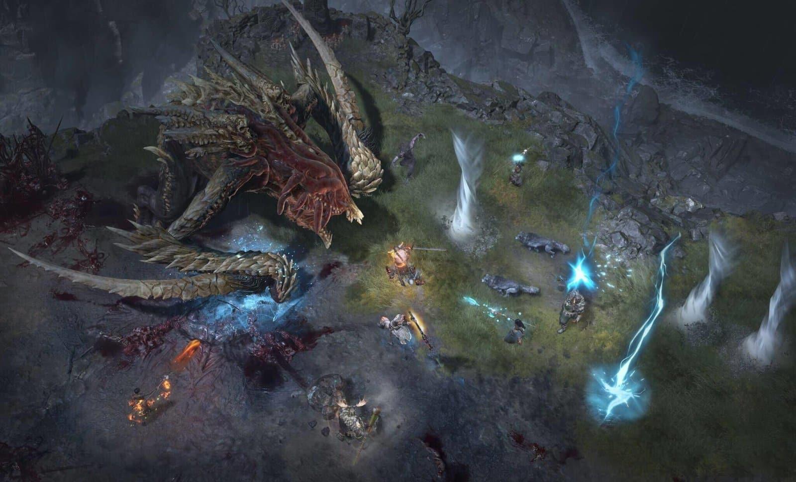 Diablo 4: Combattimento multiplayer nel Scosglen vs boss