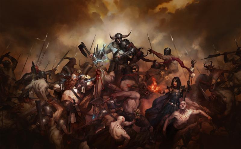 Diablo 4: Artwork degli eroi