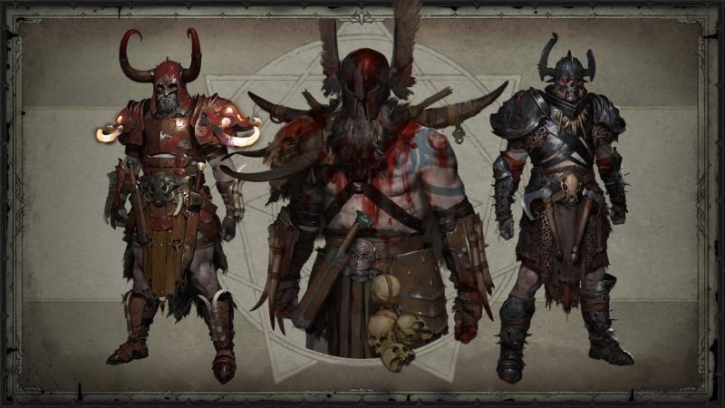 Diablo 4: Concept armature leggendarie barbaro