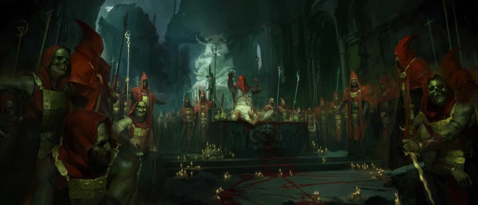 Diablo 4: Artwork dei cultisti nelle zone di Scosglen
