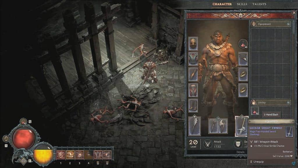 Diablo 4: Sistema arsenale Barbaro