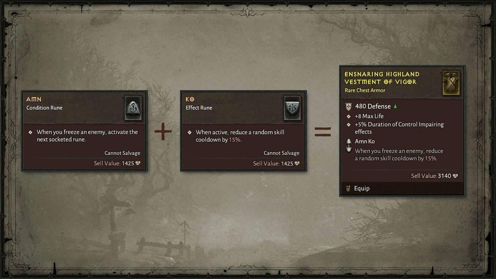 Blizzcon 2019 Diablo 4 rune runeword spiegazione