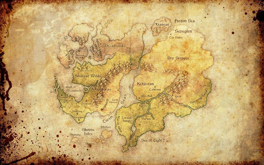 Diablo - La mappa del mondo di Sanctuary