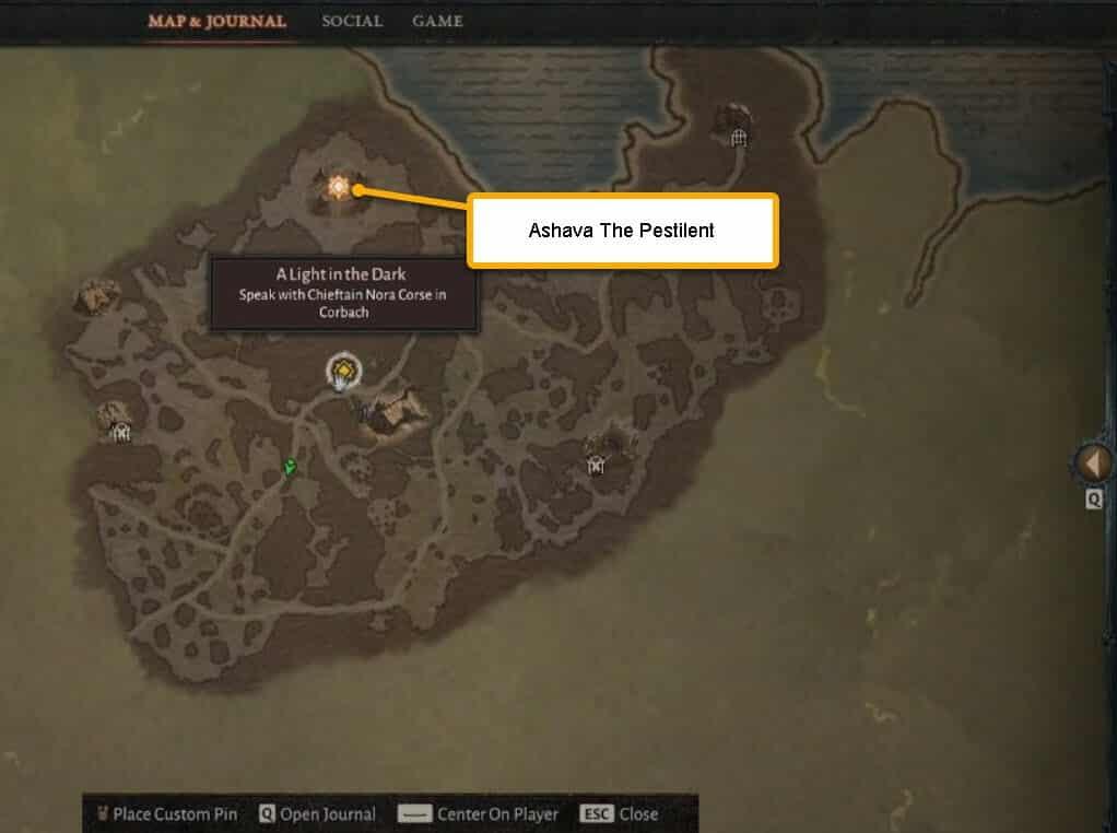 Posizione mappa Ashava The Pestilent