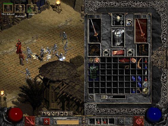 Diablo 2 inventario modificato