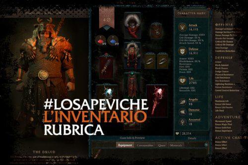 LOSAPEVICHE #4: Diablo e l'evoluzione dell'inventario