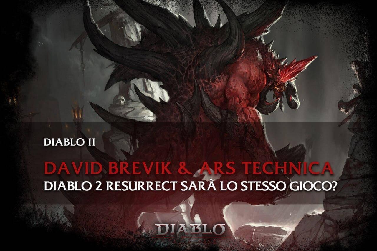 Diablo 2 Resurrect sarà lo stesso gioco