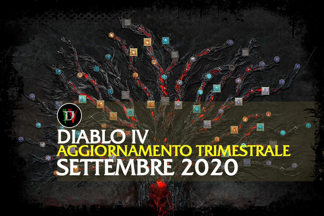 Diablo IV: Aggiornamento trimestrale settembre 2020