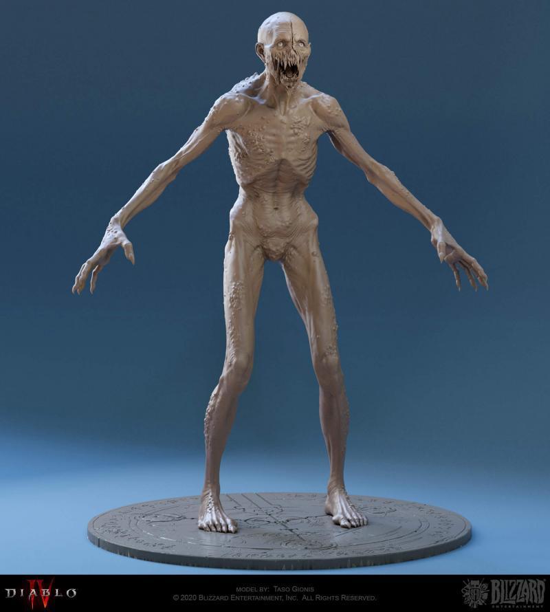 In tre discendono demone Diablo 4 personaggio intero fronte