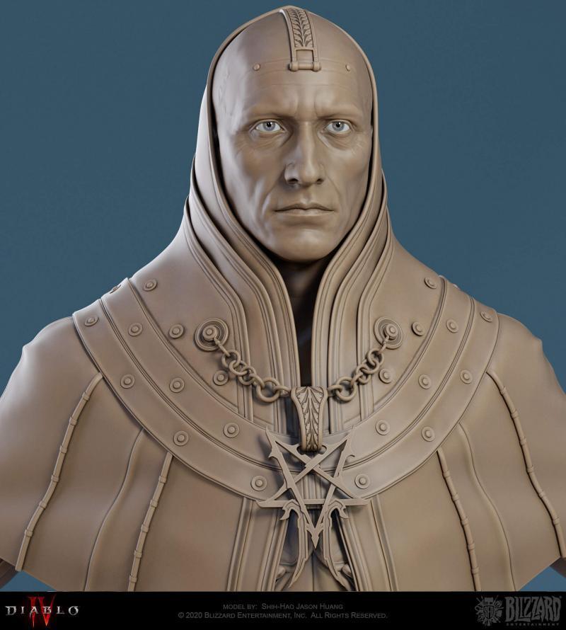 In tre discendono personaggio incappucciato Diablo 4
