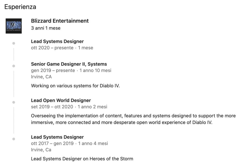 Joe Piepiora Lead Systems Designer at Blizzard Entertainment