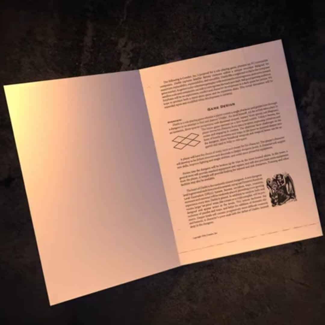documento di presentazione diablo 1 aperto