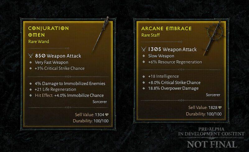 Diablo IV Aggiornamento trimestrale dicembre 2020 - arma incantatrice