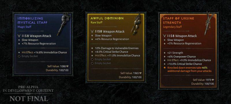 Diablo IV Aggiornamento trimestrale dicembre 2020 - oggetti magici, rari e leggendari
