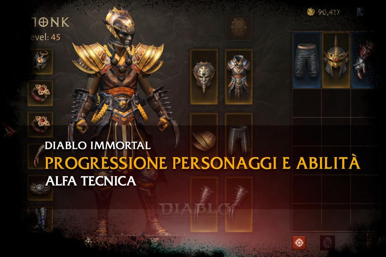 Diablo Immortal - Progressione personaggi e abilità