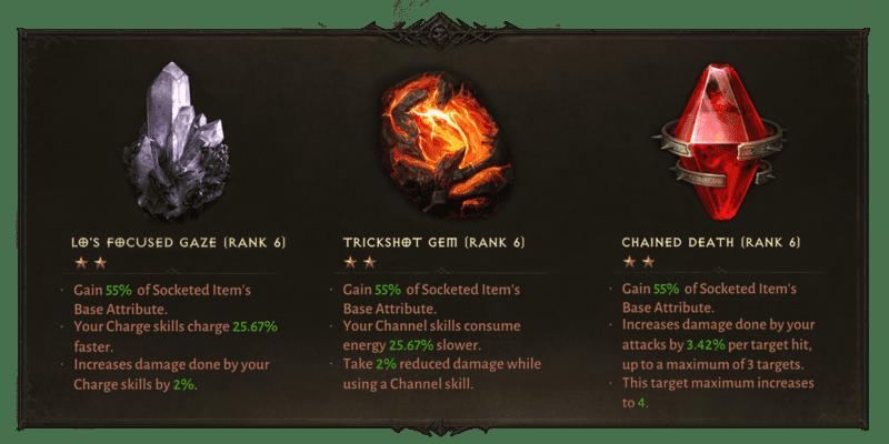 Diablo Immortal - creare e potenziare gemme leggendarie.
