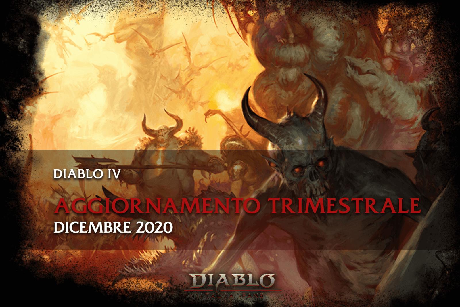 Diablo IV Aggiornamento trimestrale dicembre 2020 - copertina
