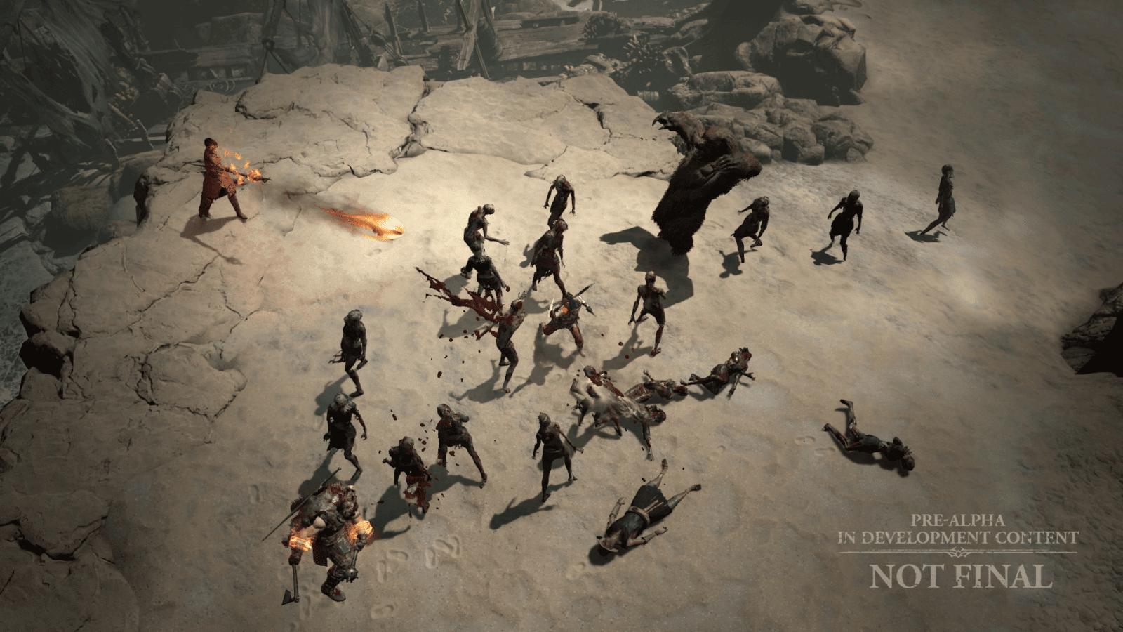 Diablo IV Tagliagole Rogue combattimento spiaggia