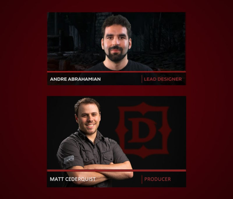 Diablo 2: Resurrected Matthew Cederquist (Producer) and Andre Abrahamian (Game Designer)