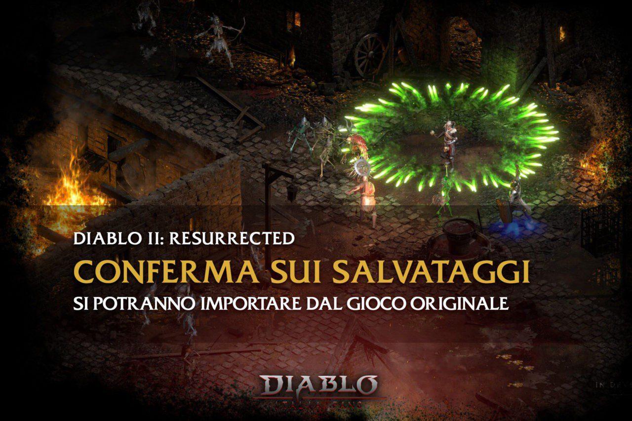 Diablo 2: Resurrected salvataggi e risoluzione