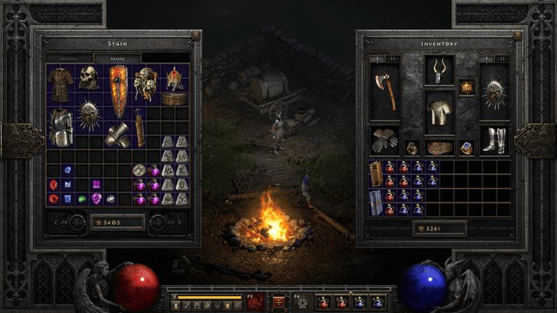 Diablo 2 Resurrected spazio aggiuntivo da inventario e forziere condiviso