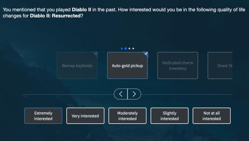 Diablo 2: Resurrected - sondaggio