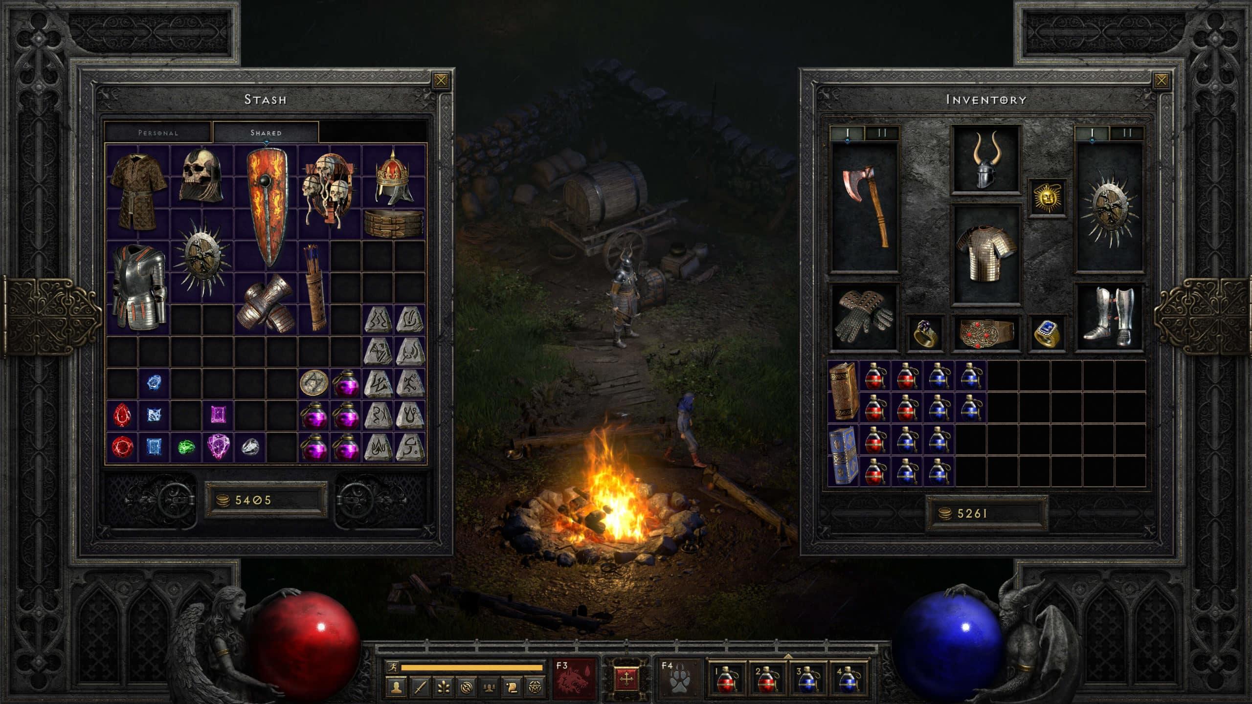 Diablo 2 Resurrected Forziere espanso