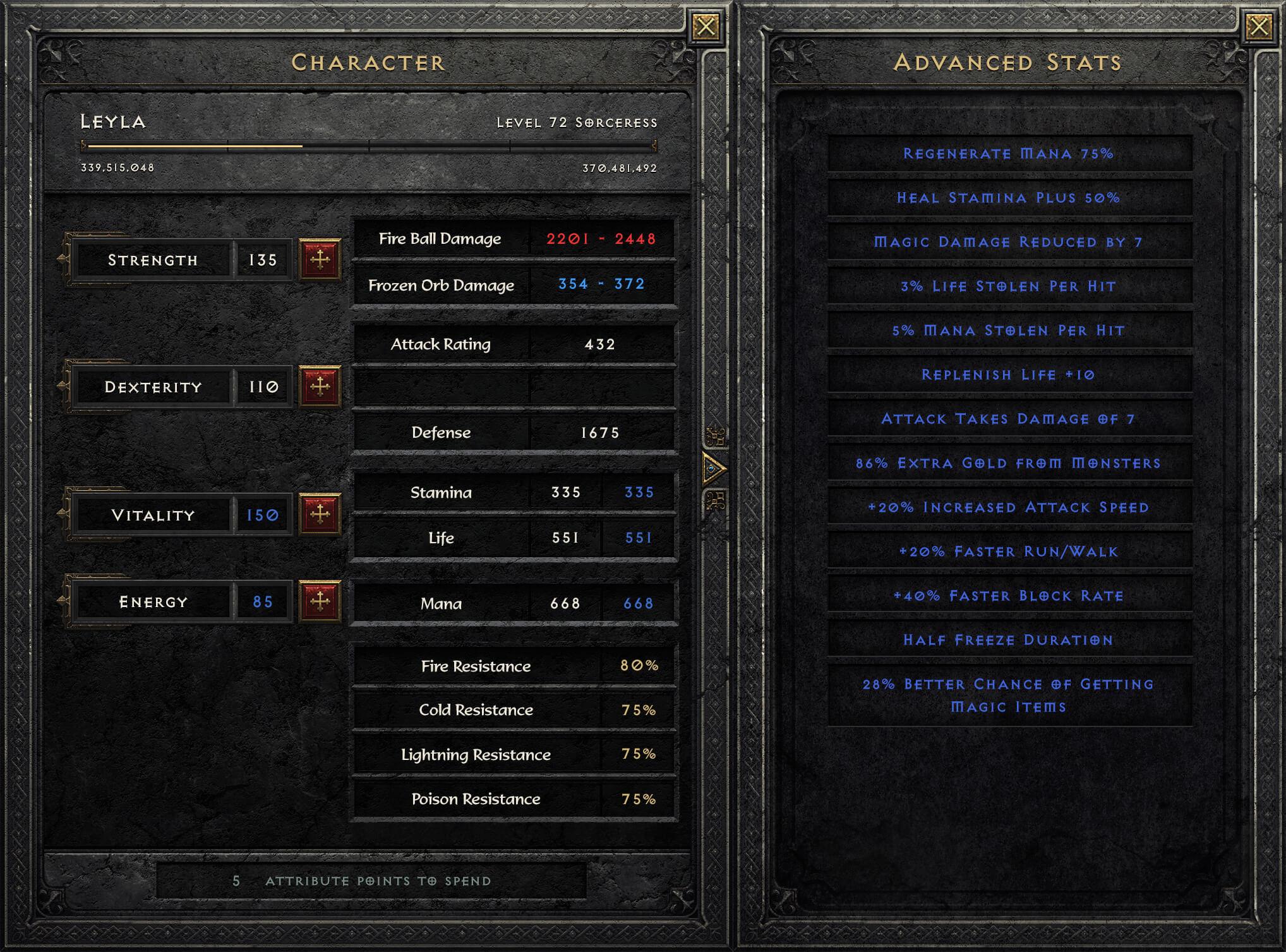 Diablo 2 Resurrected Riprogettazione dell'interfaccia