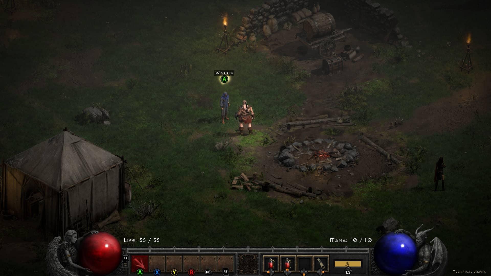 Diablo 2: Resurrected Joypad